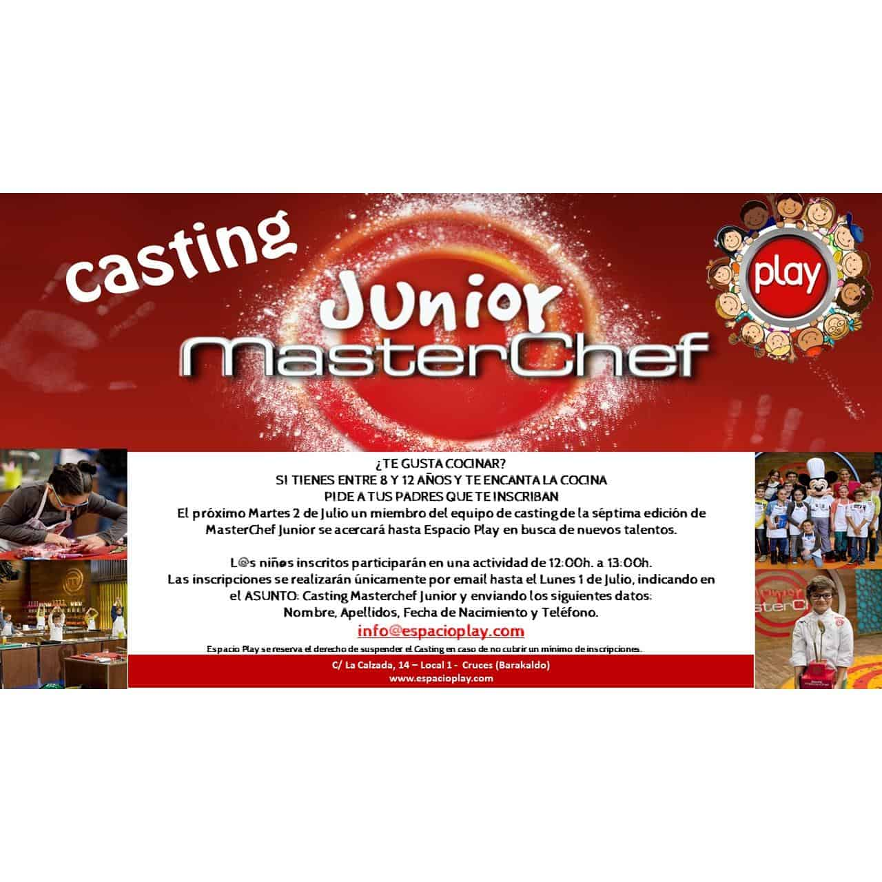 CASTING MASTERCHEF JUNIOR